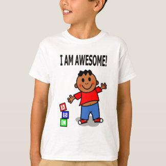 Menino do afro-americano dos desenhos animados tshirt