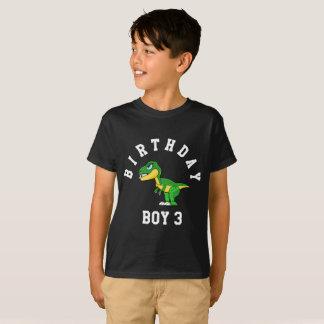 Menino do aniversário 3 anos de camisa do