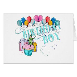 Menino do aniversário cartão comemorativo