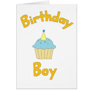 Menino do aniversário cartão de nota