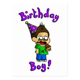 Menino do aniversário cartão postal