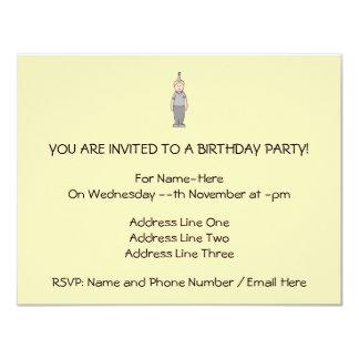 Menino do aniversário convite 10.79 x 13.97cm