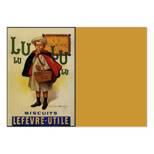 Menino do biscoito de Lefevre Lu Lu no cabo Modelo De Cartões De Visita