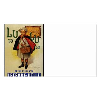 Menino do biscoito de Lefevre Lu Lu no cabo Cartão De Visita