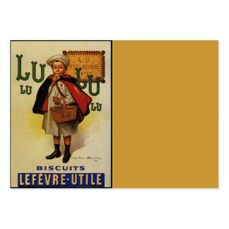 Menino do biscoito de Lefevre Lu Lu no cabo Cartão De Visita Grande