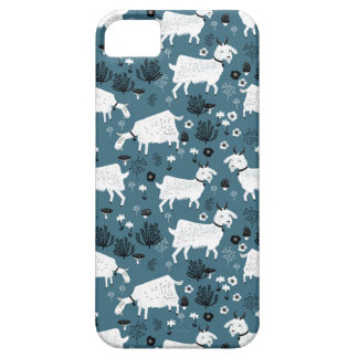 Menino do miúdo do bebê azul de animal de fazenda capa barely there para iPhone 5