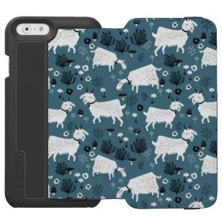 Menino do miúdo do bebê azul de animal de fazenda capa carteira incipio watson™ para iPhone 6