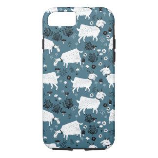 Menino do miúdo do bebê azul de animal de fazenda capa iPhone 7