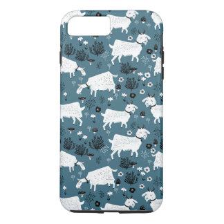 Menino do miúdo do bebê azul de animal de fazenda capa iPhone 7 plus