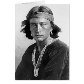 Menino do Navajo Cartão Comemorativo