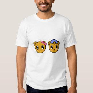 Menino do urso de ursinho & t-shirt gêmeos da