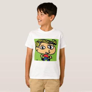 menino dos desenhos animados camiseta