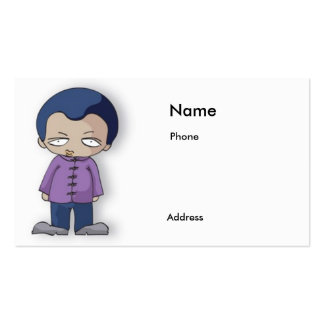 menino dos desenhos animados para o cartão de visi cartão de visita