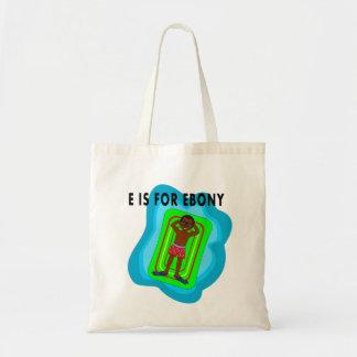 menino dos desenhos animados que flutua na jangada sacola tote budget