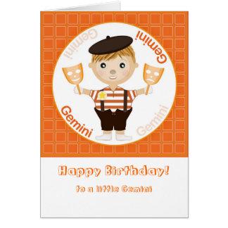 Menino dos Gêmeos - feliz aniversario Cartão Comemorativo