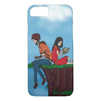 Menino e menina capa iPhone 7