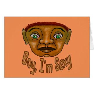"""Menino eu sou """"sexy"""" cartão comemorativo"""
