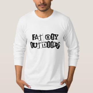 Menino gordo fora camisetas