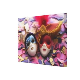 Menino & máscaras pintadas menina - impressão do
