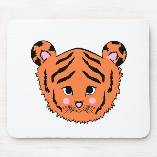 Menino Mousepad do tigre de bebê