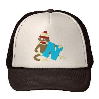 Menino N do monograma do macaco da peúga Boné