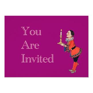 Menino novo do Victorian que guardara a vela Convites Personalizado