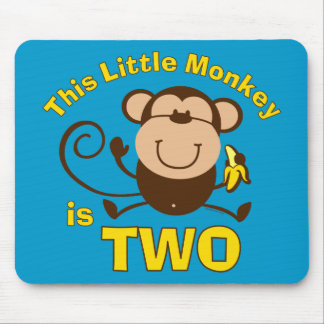 Menino pequeno Mousepad do segundo aniversário do