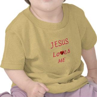 Meninos alpargata jesus Loves Me T-shirts