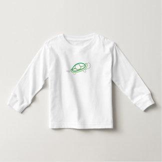 meninos brancos da parte superior da luva longa da camiseta infantil