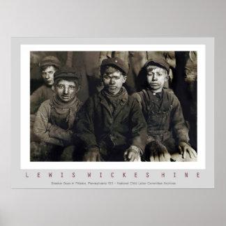 Meninos do disjuntor por Lewis Wickes Hine Poster