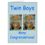 Meninos gêmeos cartoes