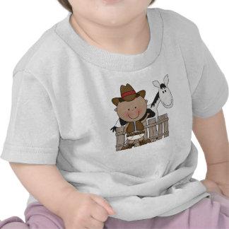 Meninos infantis da criança do pônei do vaqueiro d camiseta