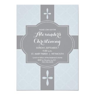 Meninos personalizados batismo, convite do
