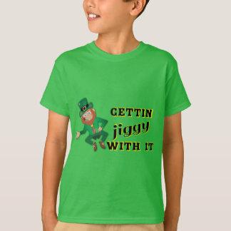 Meninos que obtêm a Jiggy com ele o Leprechaun Camiseta