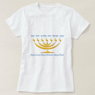 Menorah de sete ramos de Israel e de Shema Israel Camiseta