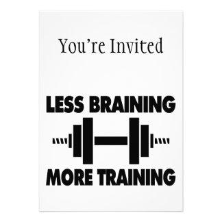 Menos Braining mais treinamento Convites Personalizado