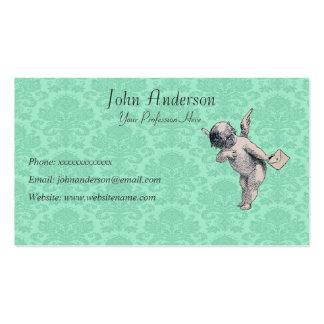 Mensageiro e papel de parede do querubim cartões de visita