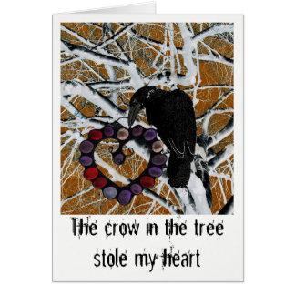 Mensagem agridoce do amor em um cartão bonito