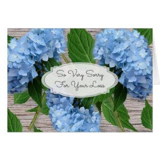 Mensagem azul rústica da simpatia dos Hydrangeas Cartão De Nota