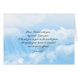 Mensagem cristã da simpatia do céu azul dos céus cartão de nota