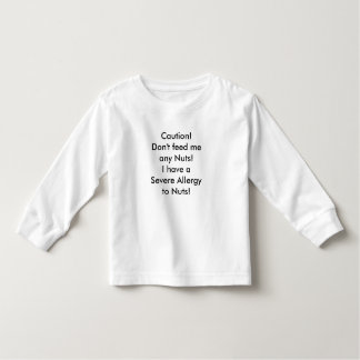 Mensagem da alergia da porca da camisa da criança