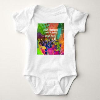 Mensagem da felicidade de Voltaire. Body Para Bebê