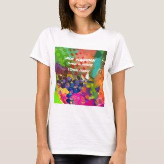 Mensagem da felicidade de Voltaire. Camiseta