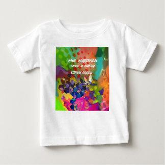 Mensagem da felicidade de Voltaire. Camiseta Para Bebê