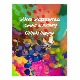 Mensagem da felicidade de Voltaire. Cartão Postal