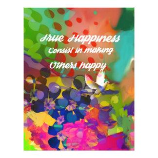 Mensagem da felicidade de Voltaire. Papel Timbrado