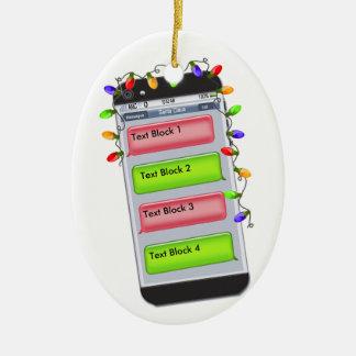 Mensagem de texto CUSTOMIZÁVEL do Natal & luzes do Enfeite