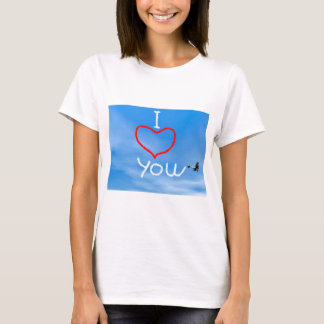 Mensagem do amor do fumo biplan - 3D rendem Camiseta
