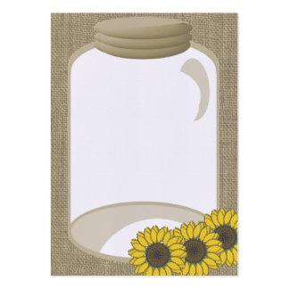 Mensagem do chá de casamento do frasco e do cartão de visita grande
