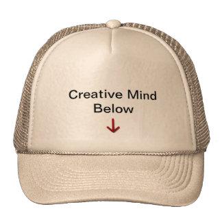 Mente criativa abaixo do chapéu ALGUMA COR Bonés